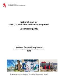 National Reform Programme of the Grand Duchy of Luxembourg 2018