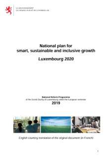 National Reform Programme of the Grand Duchy of Luxembourg 2019