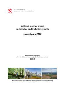 National Reform Programme of the Grand Duchy of Luxembourg 2020